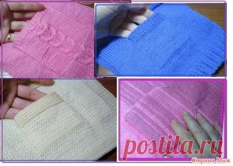 Пять вариантов вязания накладных карманов - Вязание - Страна Мам