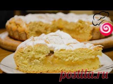 Пирог с яблоками на сметанном (кефирном) тесте