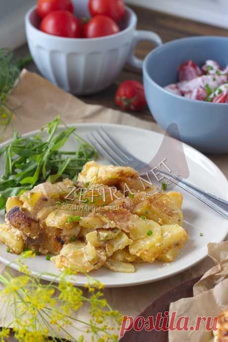 Картошка с кабачками в сметане — быстрый и вкусный ужин — Кулинарные рецепты любящей жены