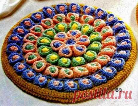 Японский коврик-торт крючком. Мастер-класс
