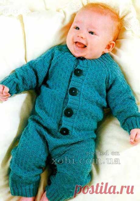 комбинезон для малыша вязаный спицами