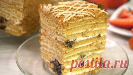 """Торт """"Рыжик"""": пеку его с детства и не надоедает. Делюсь рецептом   Готовим с Калниной Натальей   Яндекс Дзен"""