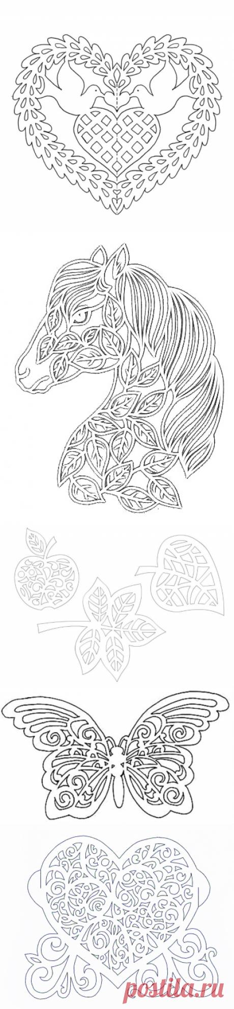 Ажурное вырезание из бумаги: шаблоны для вырезания — Сделай сам, идеи для творчества - DIY Ideas