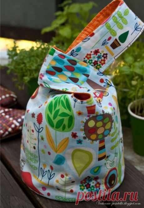 """Удобная сумка """"Японский узелок"""""""
