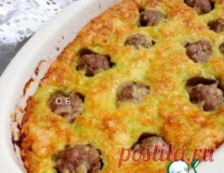 Пирог из кабачков с фрикадельками – кулинарный рецепт