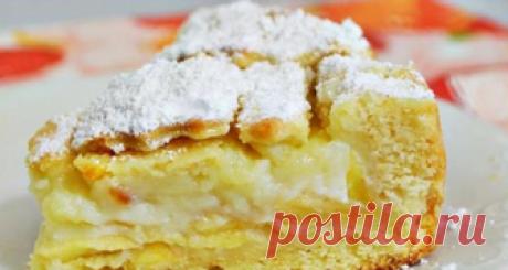 Кремовый пирог с яблоками, которому нет равных Пирог будет таять во рту и радовать Ваших близких.