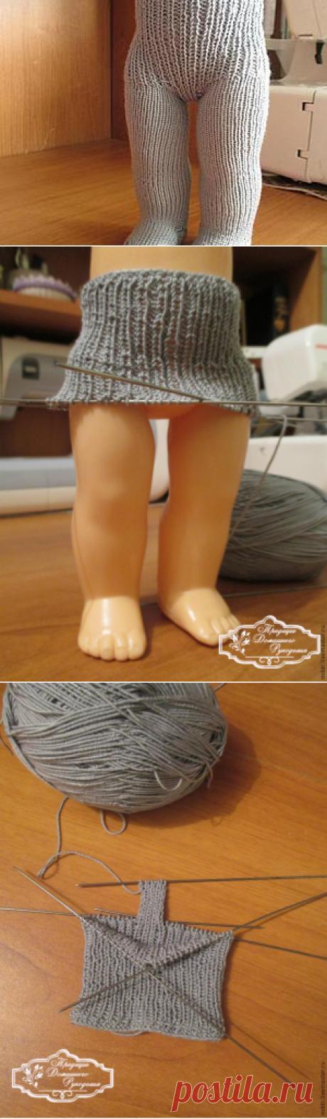 Вяжем колготки для куклы - Ярмарка Мастеров - ручная работа, handmade