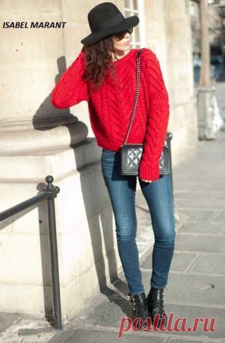 Вязаный свитер спицами от ISABEL MARANT | Вяжем с Лана Ви