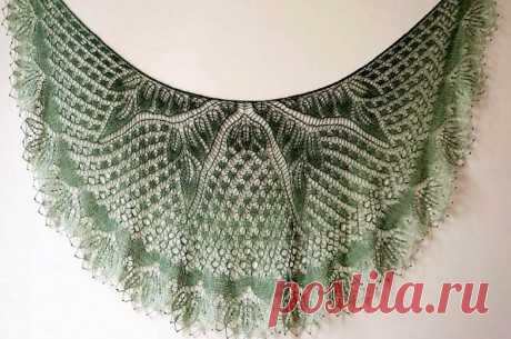 Шаль спицами Танцующие бабочки, Вязание для женщин