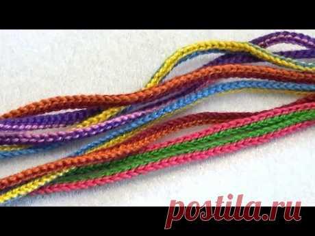 Как связать шнур для слингобус (МК №5) // Crochet Cord for Necklace