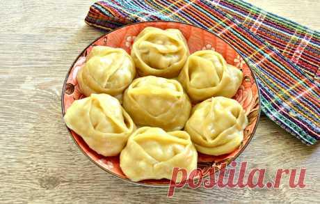 Манты с курицей и картофелем рецепт с фото пошагово