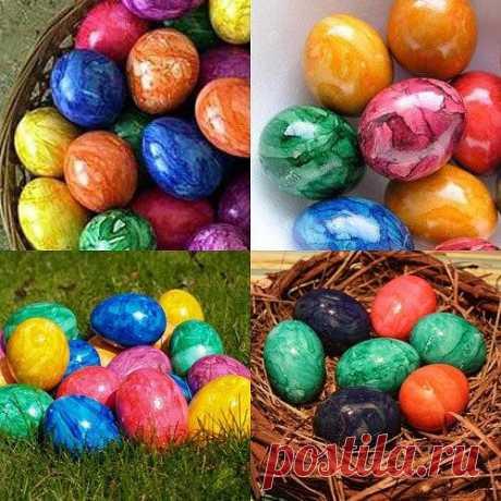 Как необычно покрасить яйца к пасхе. Несколько оригинальных идей. Продолжение ниже. Откройте тему. Мраморные яйца. Нужно подготовить: яйца, вода, краситель, подсолнечное масло. Способ приготовления: разбавляем воду красителем, затем доба...