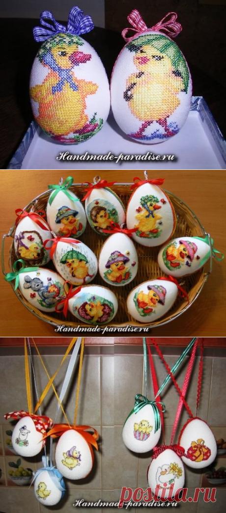50+ идей, как сделать весёлые пасхальные яйца + схемы вышивки, идей и мастер-классы.