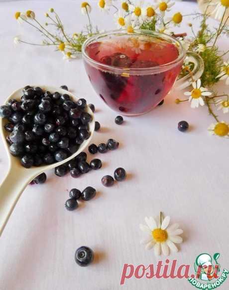 Черничная заготовка для чая на зиму – кулинарный рецепт