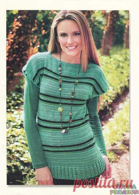 Туника крючком - Жакет.Пуловеры.Свитер - Страна рукоделия