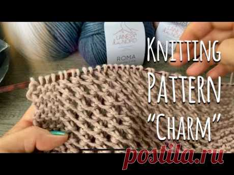 Красивейший УЗОР для КАРДИГАНА «Charm» / Beautiful knitting pattern for cardigan