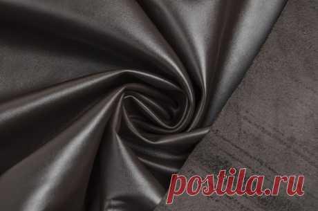 Искусственная кожа шоколадного цвета - купить ткань онлайн в объединенном интернет-магазине ВСЕ ТКАНИ