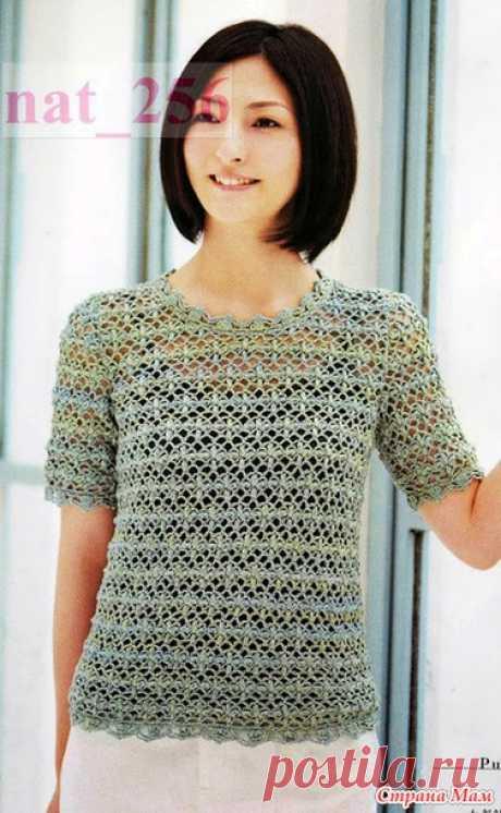 Ажурный пуловер крючком. Lady Boutique Series №3357 2012