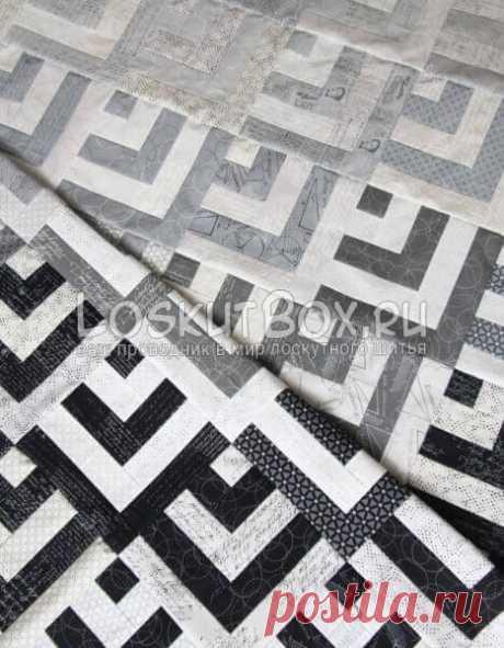 Лоскутное одеяло с эффектом градиента Стильное лоскутное одеялос эффектом градиента в модных серых тонах запросто может стать главным акцентом современного интерьера. К тому же, сшить его не так уж и сложно, как может показаться на первый взгляд. Для пошива такого одеяла