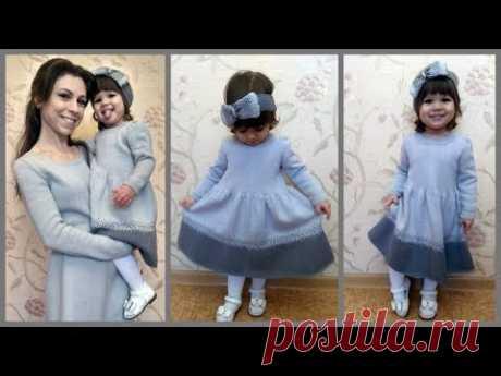 Платье для девочки спицами.Часть1/Dress for girls spokes. Part1