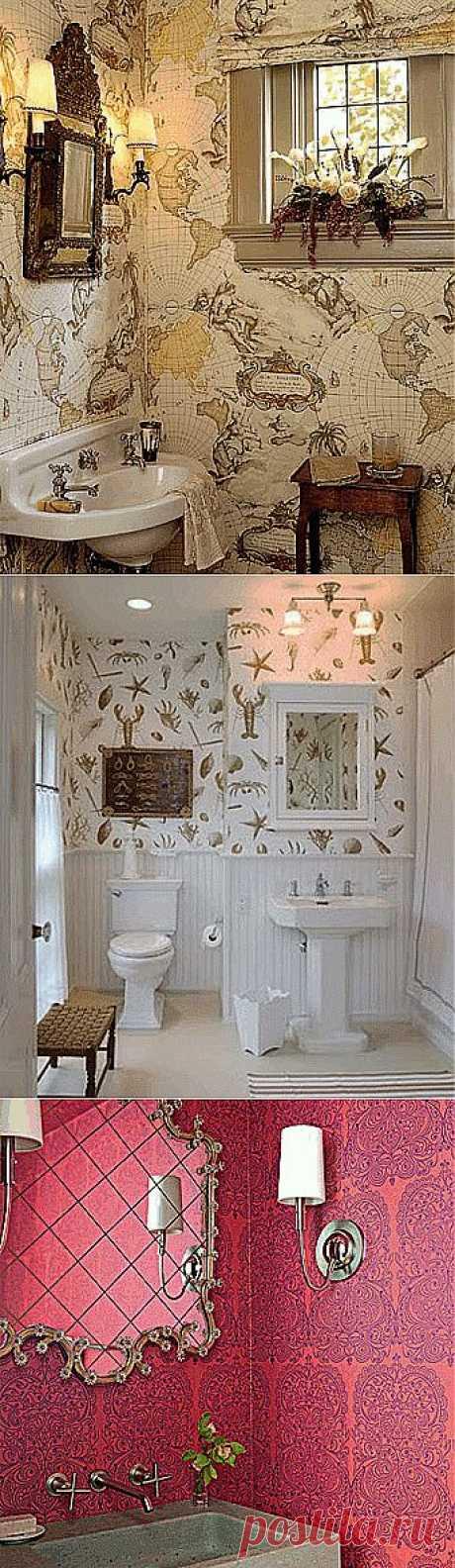 Обои для ванной комнаты: 9 простых правил - Учимся Делать Все Сами