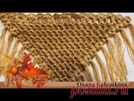 ШАЛЬ КРЮЧКОМ БЫСТРО И ПРОСТО 3D.Как связать красивую  шаль.Сrochet shawl