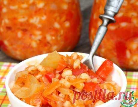 Салат из перловки с овощами на зиму – кулинарный рецепт