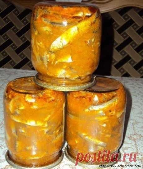 """Домашняя килька в томатном соусе: """"Пальчики оближешь""""."""