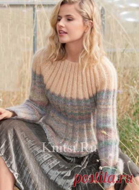Вязаный пуловер. Вязание для женщин/Пуловеры/Спицами