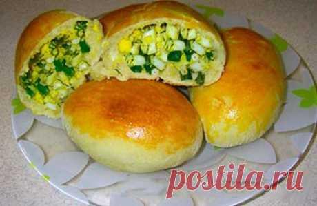 (2) Кухня Еда Рецепты - Пирожки с дрожжевого теста с яйцом и луком