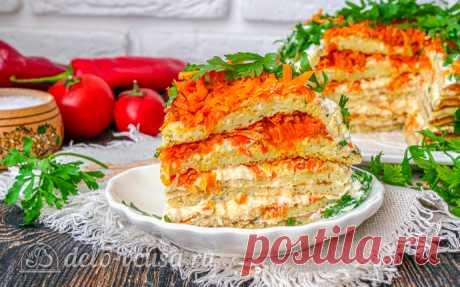 Кабачковый торт с морковью, пошаговый рецепт с фото