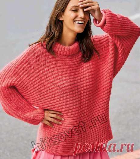 Вязание свитера оверсайз полупатентным узором - Хитсовет