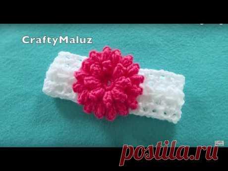 ♥CROCHET TUTORIAL | DIADEMA TEJIDA PASO A PASO | haz una hermosa diadema a crochet paso a paso
