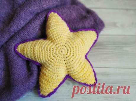 Как связать подушку звезду крючком для детской кроватки » «Хомяк55» - всё о вязании спицами и крючком