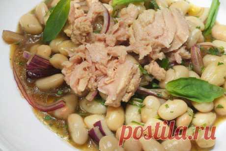 Салат с тунцом и белой фасолью рецепт – европейская кухня: салаты. «Еда»
