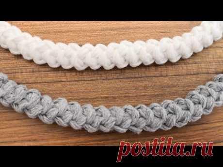 Tığ işi Anglez Çanta Sapı Yapımı / Crochet Handles for Bags - YouTube Вязаные ручки для сумок