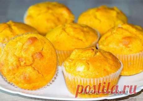 Рецепт творожно - тыквенных кексов