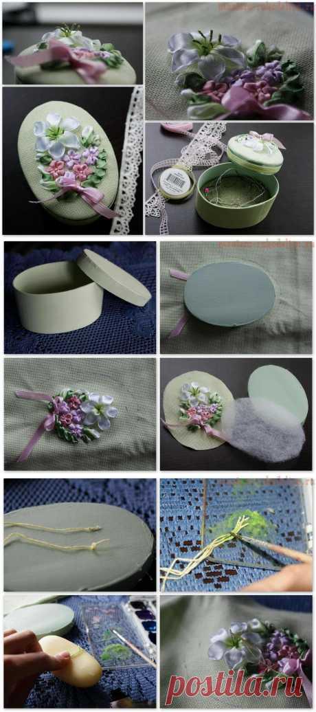 Практический урок по вышивке лентами - Делаем тычинки. Оформляем вышивку.