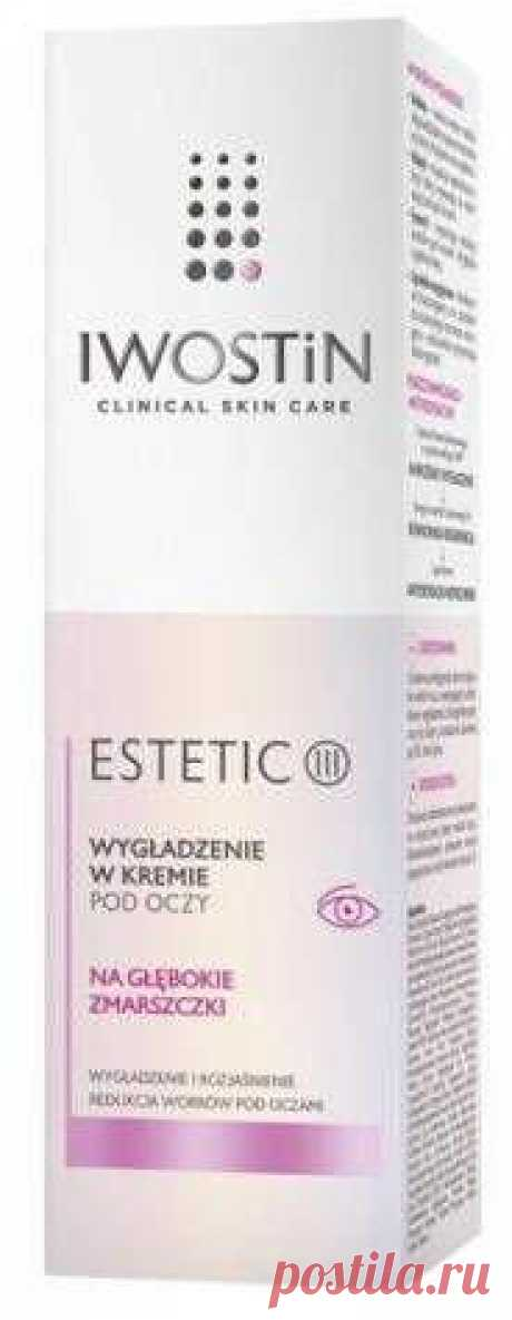 IWOSTIN Estetic III Smoothing eye cream 15ml Iwostin Estetic III. UK On the occasion of the 50th birthday, treat the skin around the eyes with a unique gift - a cosmetic that visibly rejuvenates this area - Smoothing in the cream under the eyes Iwostin Estetic III.