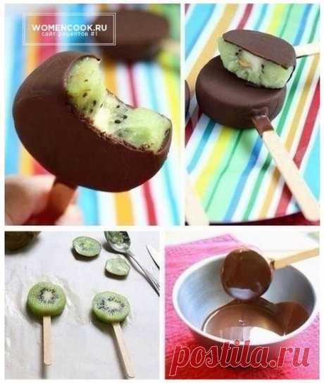 Киви_мороженное_в шоколаде