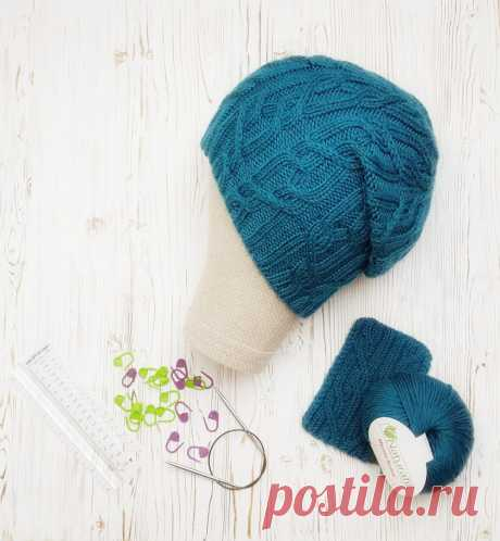 Бирюзовая шапка-бини