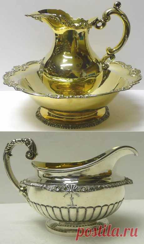 Сосуды из серебра 18-19 век.