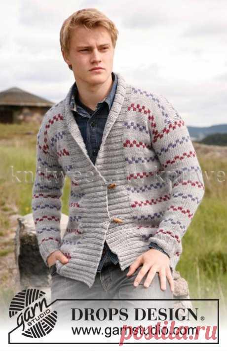 Вяжем вместе с Дропс: Мужские жакеты, пуловеры и джемпера спицами