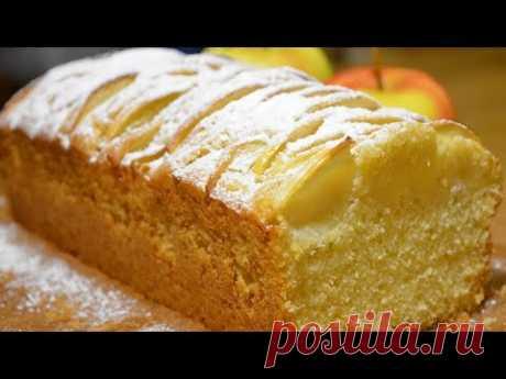 Ванильный кекс с яблоками | Cake aux pommes et vanille