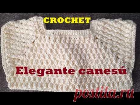 canesu a crochet - para niña - ropon - vestido - tutorial - tejido - ganchillo