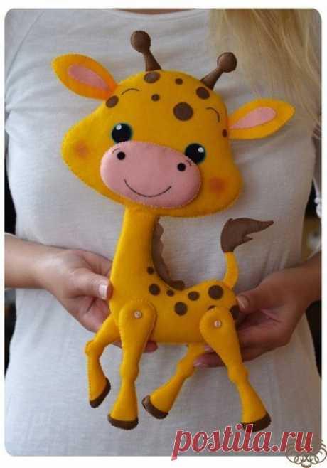 Фетровый жирафик