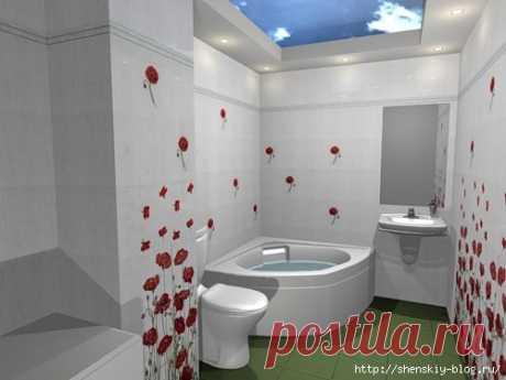 Beautiful interiors of bathrooms!
