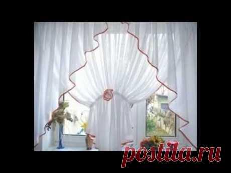 Las cortinas de cocina para una pequeña cocina de la foto