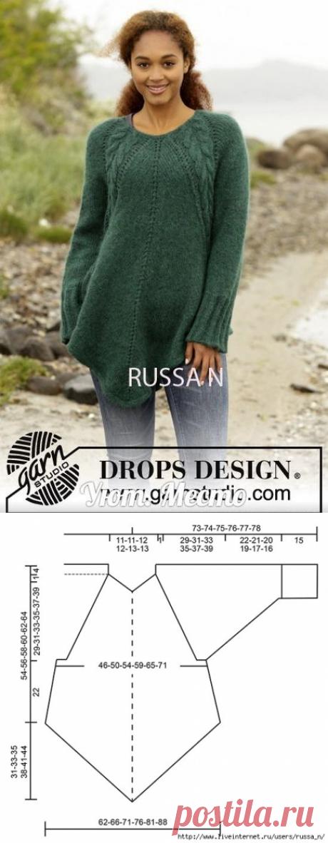 Тёплая туника спицами от DROPS DESIGN