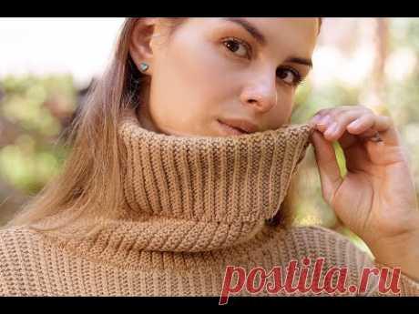 Стильный и простой узор для свитера Bon Ton спицами